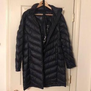 Calvin Klein navy packable down winter puffer coat